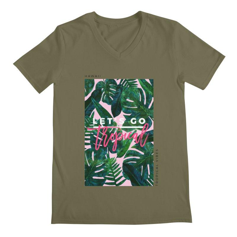 Let's Go Tropical Men's V-Neck by 83oranges