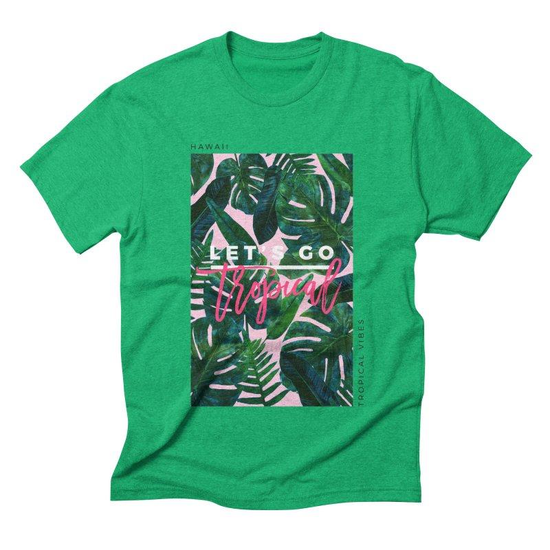 Let's Go Tropical Men's Triblend T-shirt by 83oranges