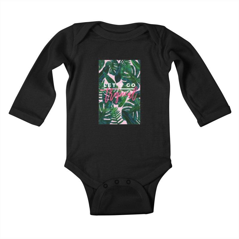 Let's Go Tropical Kids Baby Longsleeve Bodysuit by 83oranges