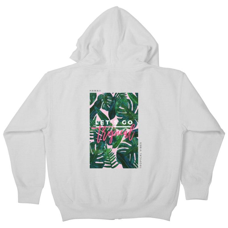 Let's Go Tropical Kids Zip-Up Hoody by 83oranges