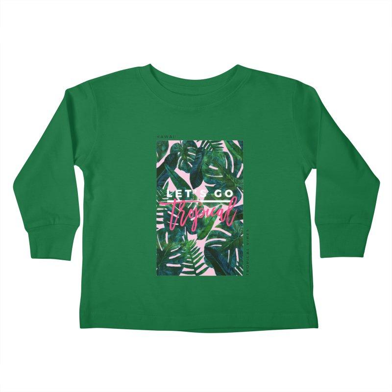 Let's Go Tropical Kids Toddler Longsleeve T-Shirt by 83oranges