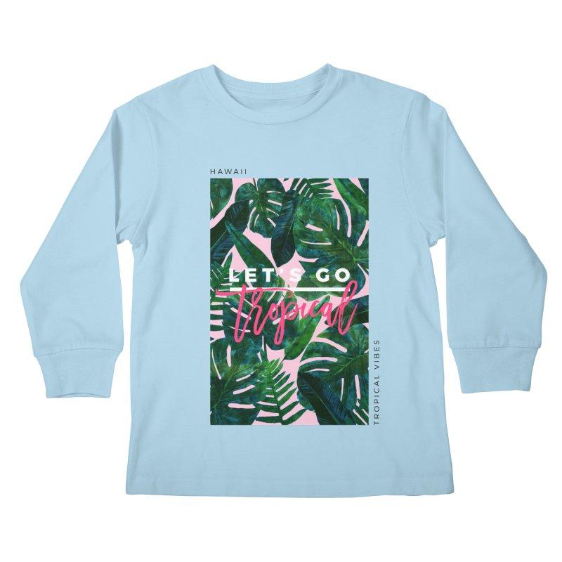 Let's Go Tropical Kids Longsleeve T-Shirt by 83oranges