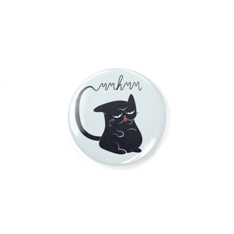 Gritty Kitty Mmhmm Accessories Button by 84collective