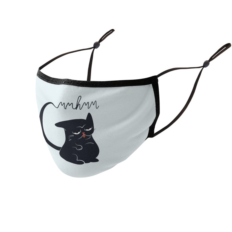 Gritty Kitty Mmhmm Accessories Face Mask by 84collective