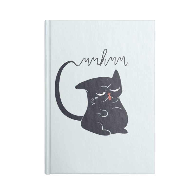 Gritty Kitty Mmhmm Accessories Blank Journal Notebook by 84collective