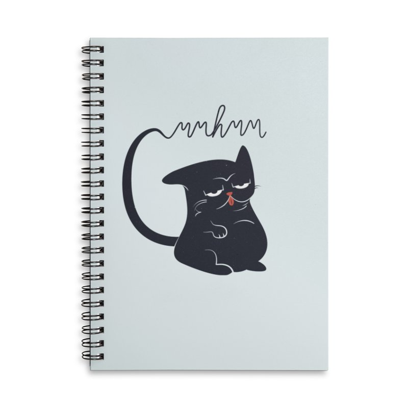 Gritty Kitty Mmhmm Accessories Lined Spiral Notebook by 84collective