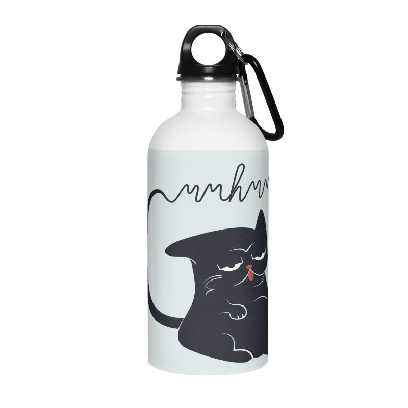 Gritty Kitty Mmhmm Accessories Water Bottle by 84collective