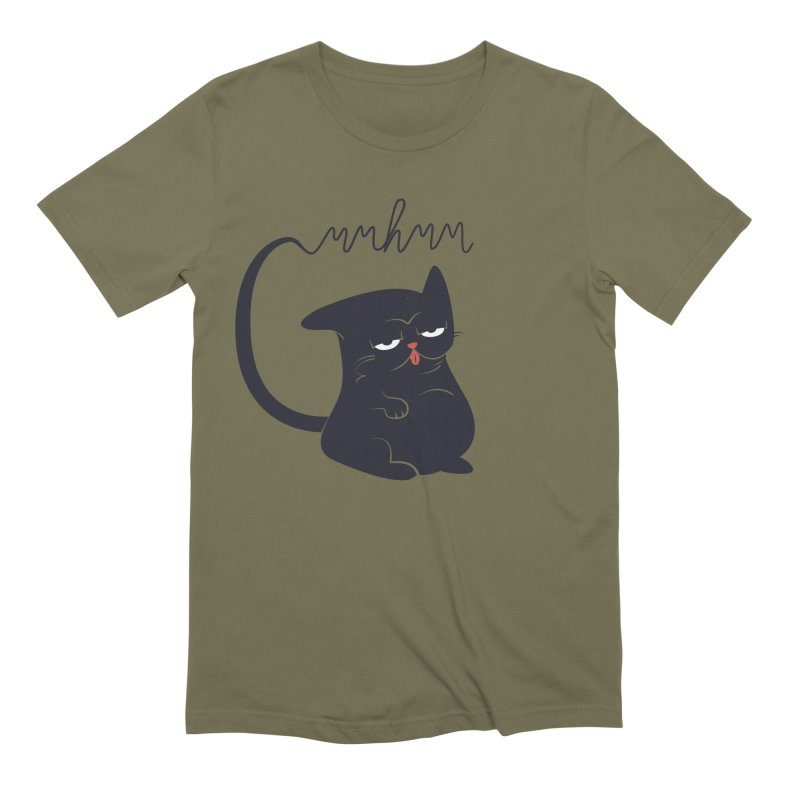 Gritty Kitty Mmhmm Men's T-Shirt by 84collective