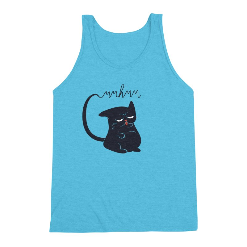 Gritty Kitty Mmhmm Men's Triblend Tank by 84collective