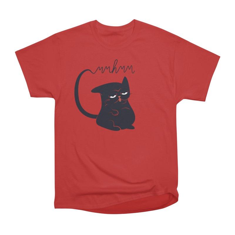 Gritty Kitty Mmhmm Men's Heavyweight T-Shirt by 84collective