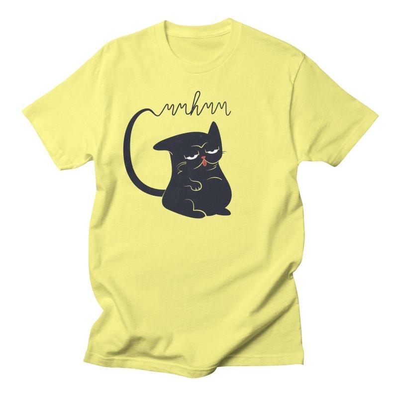 Gritty Kitty Mmhmm Men's Regular T-Shirt by 84collective