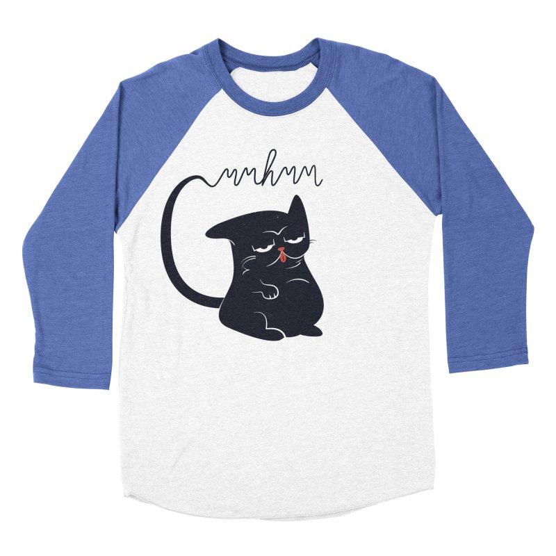 Gritty Kitty Mmhmm Women's Baseball Triblend Longsleeve T-Shirt by 84collective