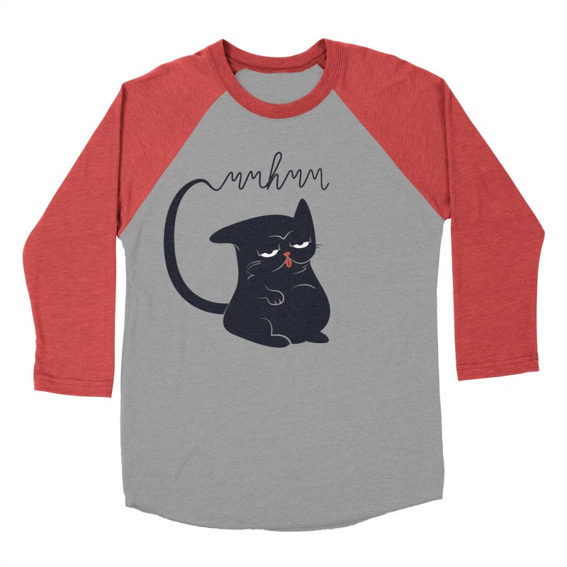 Gritty Kitty Mmhmm Women's Baseball Triblend Longsleeve T-Shirt by 84collective