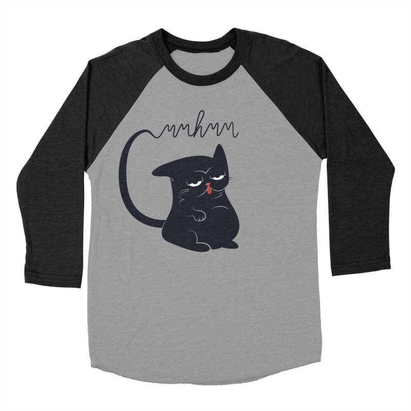Gritty Kitty Mmhmm Men's Baseball Triblend Longsleeve T-Shirt by 84collective