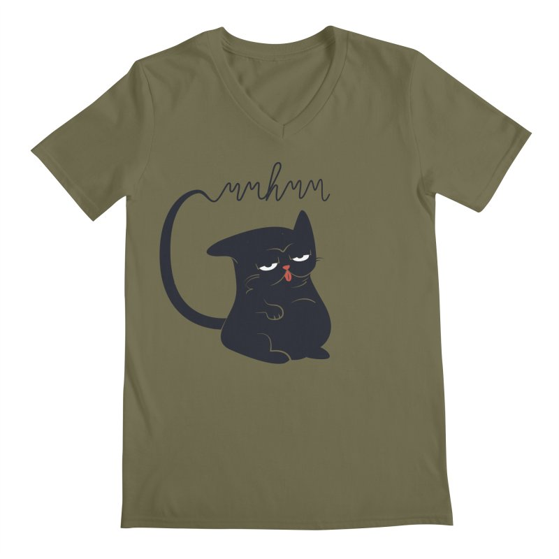 Gritty Kitty Mmhmm Men's V-Neck by 84collective