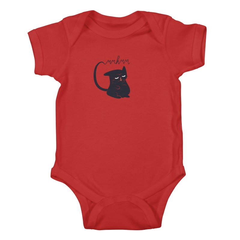 Gritty Kitty Mmhmm Kids Baby Bodysuit by 84collective