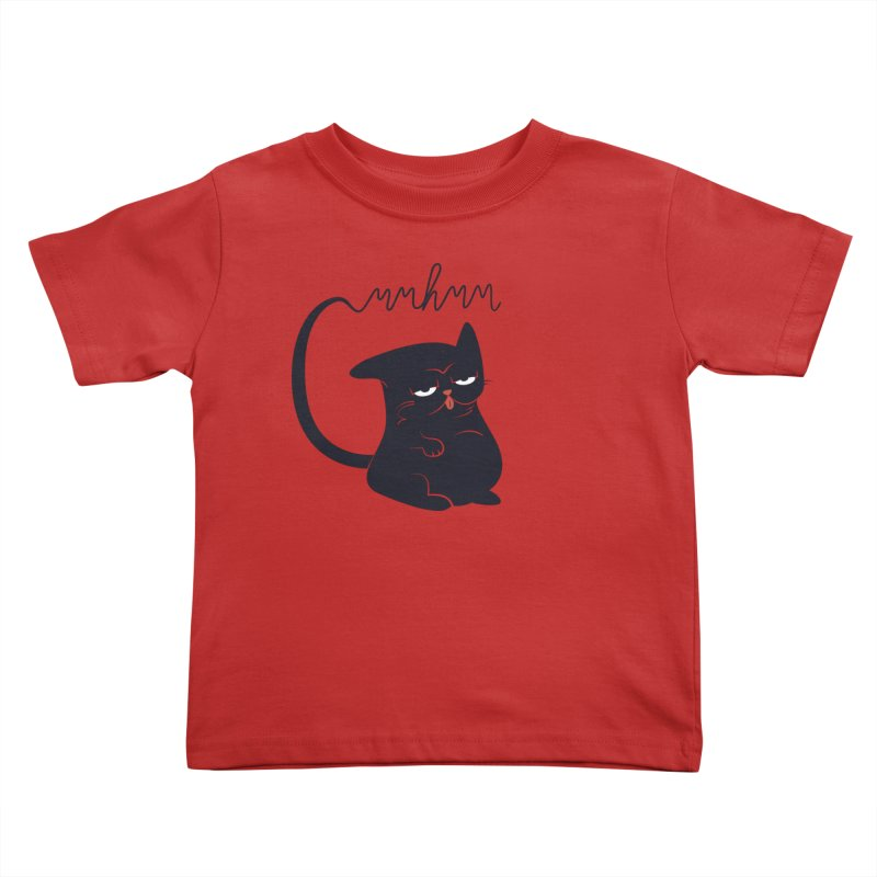 Gritty Kitty Mmhmm Kids Toddler T-Shirt by 84collective