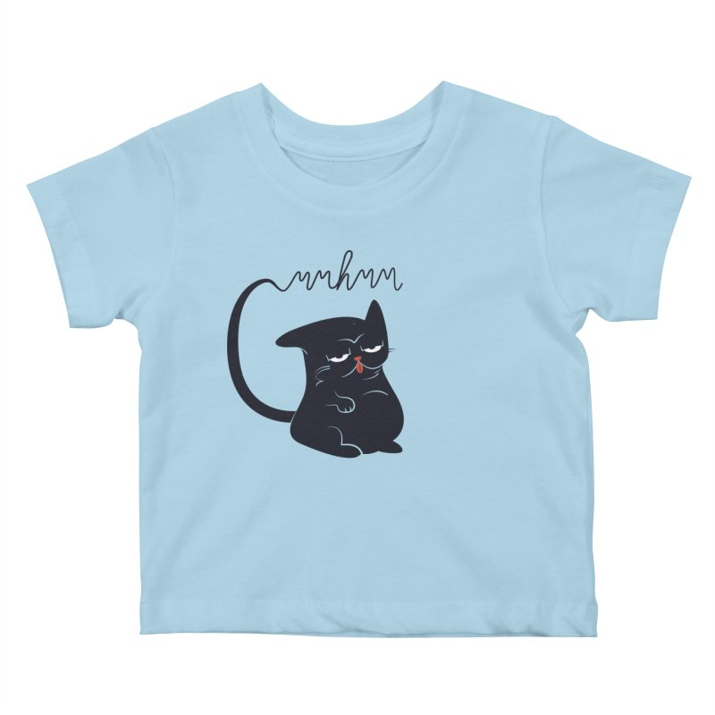 Gritty Kitty Mmhmm Kids Baby T-Shirt by 84collective