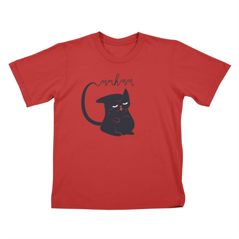 Gritty Kitty Mmhmm Kids T-Shirt by 84collective