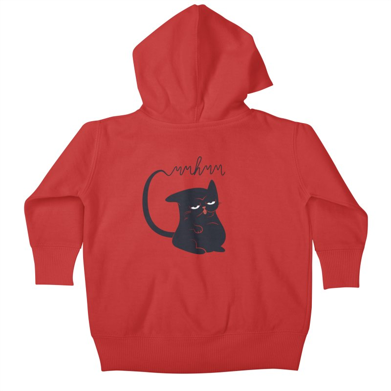 Gritty Kitty Mmhmm Kids Baby Zip-Up Hoody by 84collective