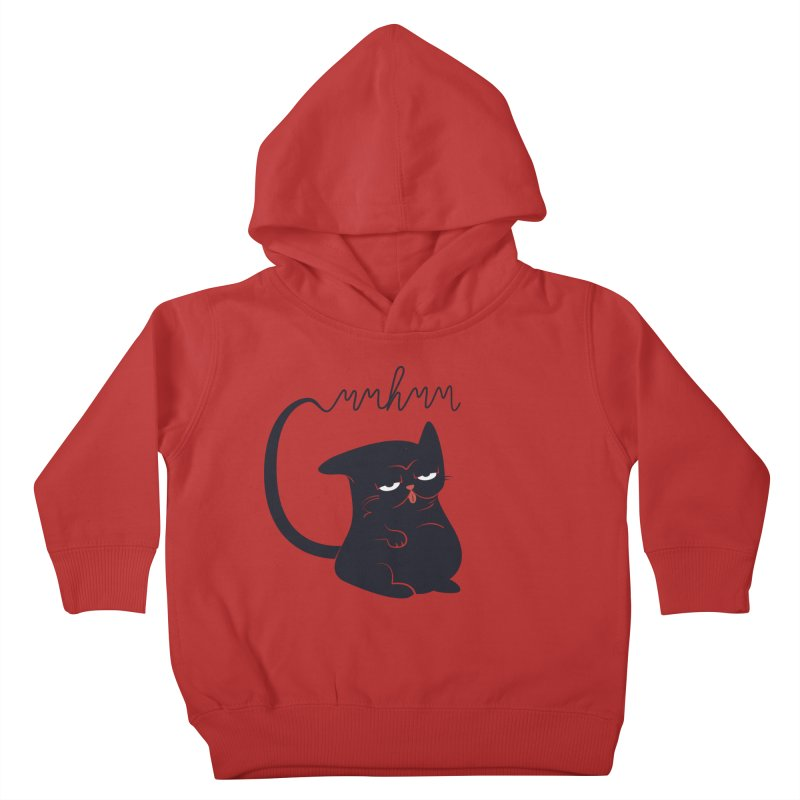 Gritty Kitty Mmhmm Kids Toddler Pullover Hoody by 84collective