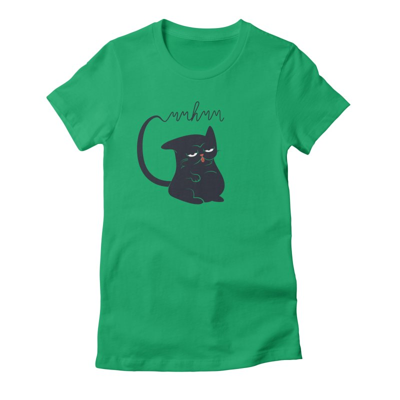 Gritty Kitty Mmhmm Women's Fitted T-Shirt by 84collective