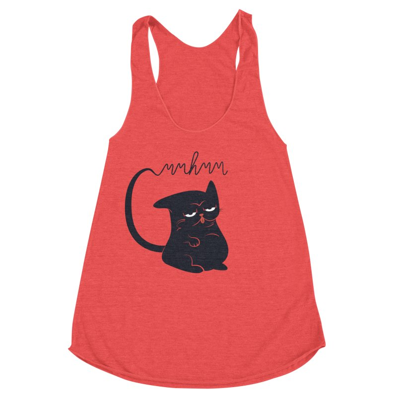 Gritty Kitty Mmhmm Women's Racerback Triblend Tank by 84collective