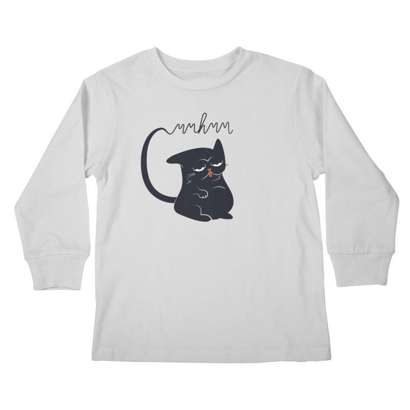 Gritty Kitty Mmhmm Kids Longsleeve T-Shirt by 84collective