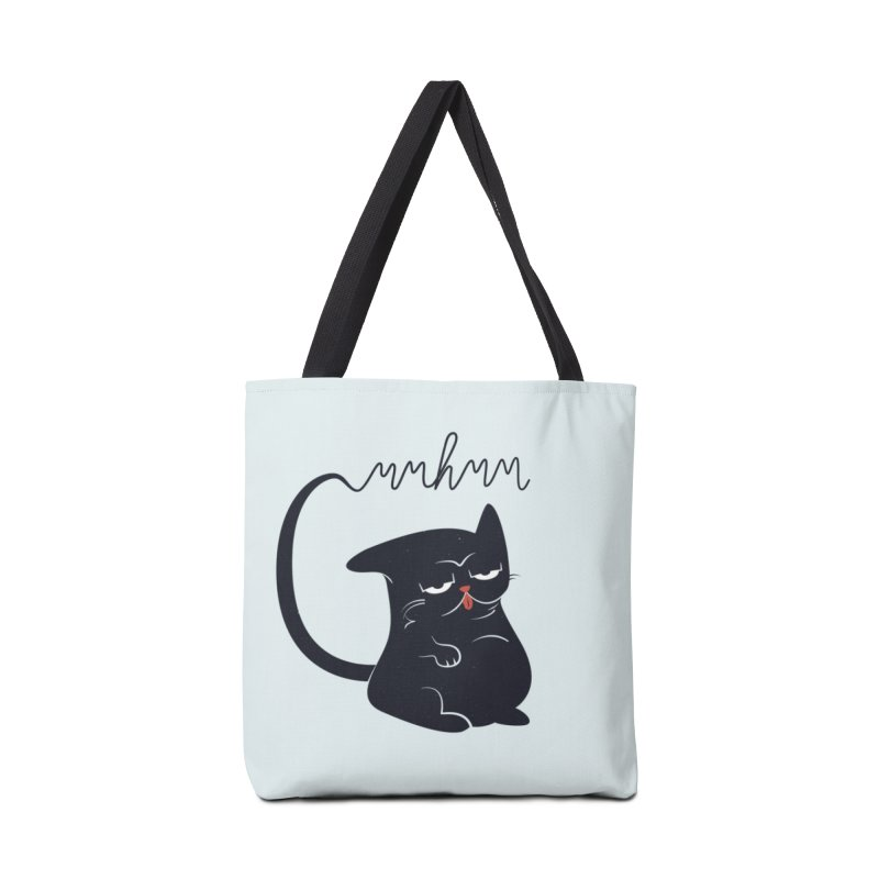 Gritty Kitty Mmhmm Accessories Tote Bag Bag by 84collective