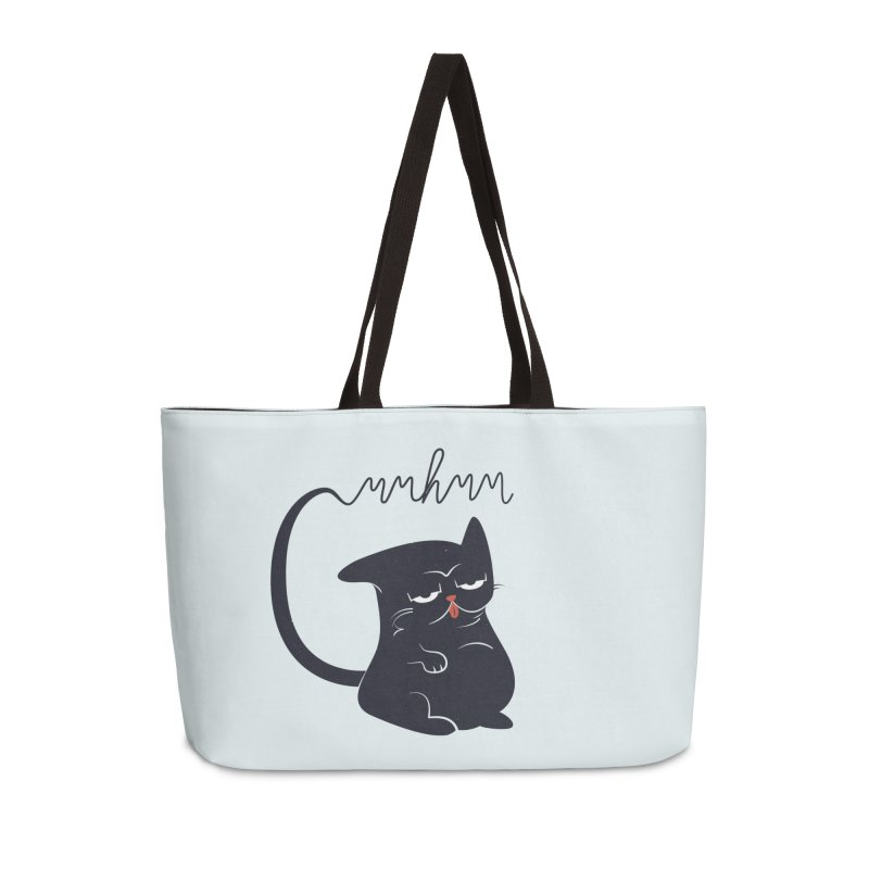 Gritty Kitty Mmhmm Accessories Weekender Bag Bag by 84collective