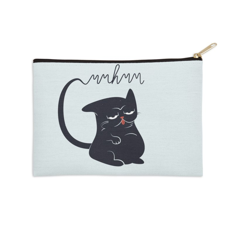 Gritty Kitty Mmhmm Accessories Zip Pouch by 84collective