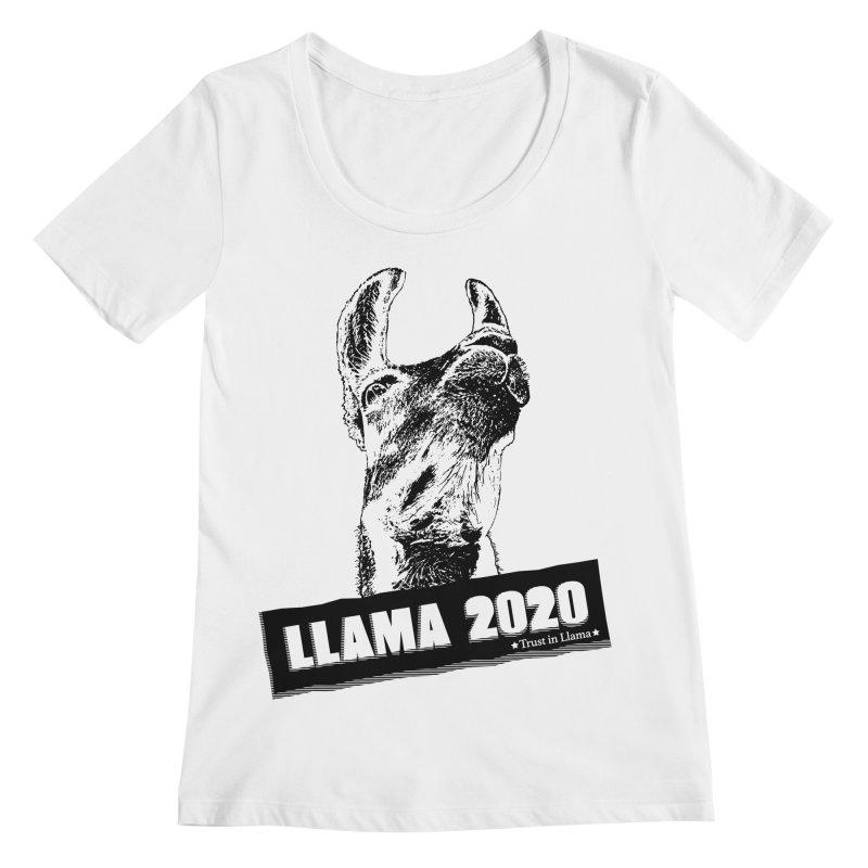 Trust in Llama 2020 Women's Regular Scoop Neck by 84collective