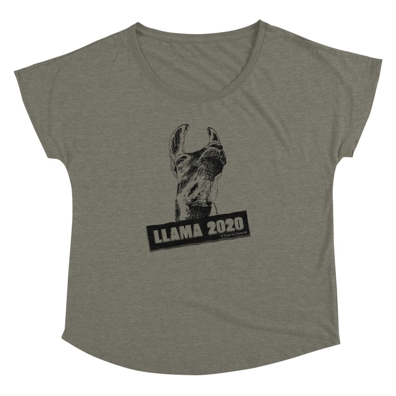 Trust in Llama 2020 Women's Dolman Scoop Neck by 84collective