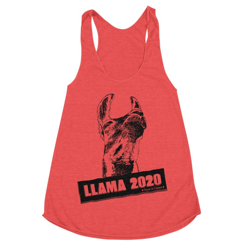 Trust in Llama 2020 Women's Racerback Triblend Tank by 84collective