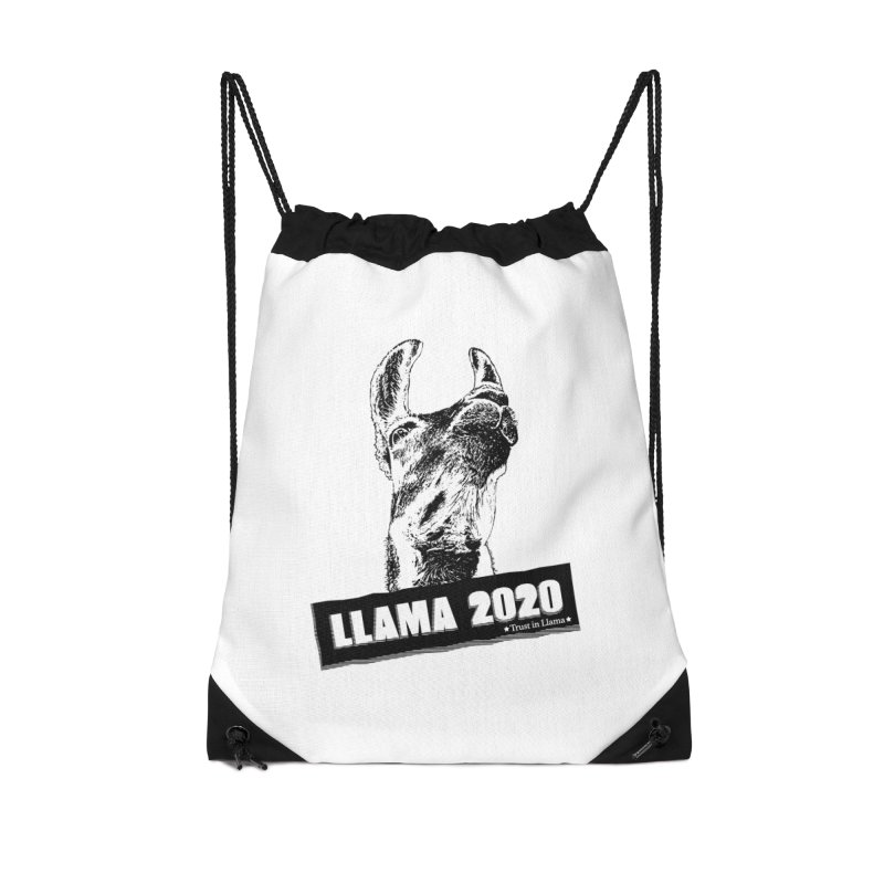 Trust in Llama 2020 Accessories Drawstring Bag Bag by 84collective