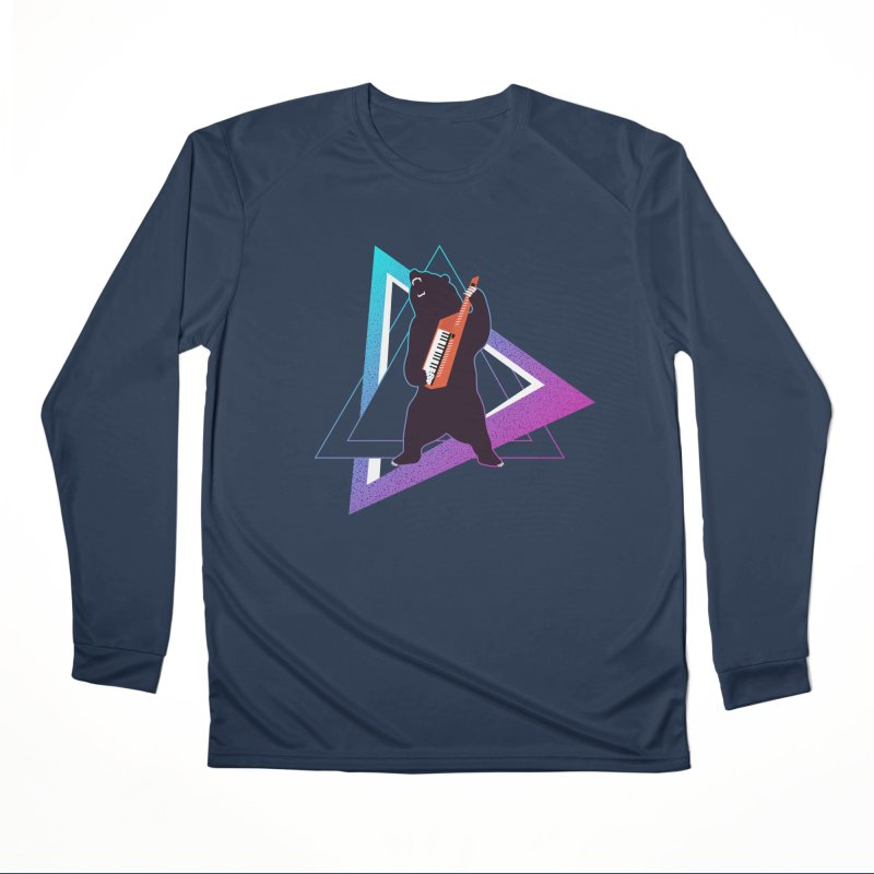 The Growling Keytarist (Grizzly Bear Music) Men's Performance Longsleeve T-Shirt by 84collective