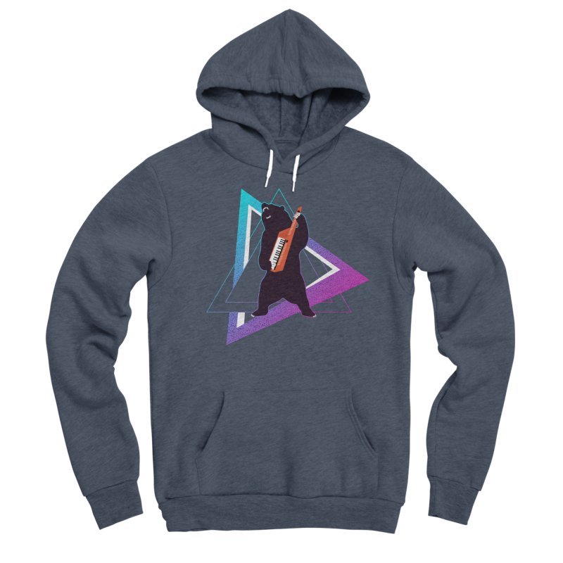 The Growling Keytarist (Grizzly Bear Music) Women's Sponge Fleece Pullover Hoody by 84collective