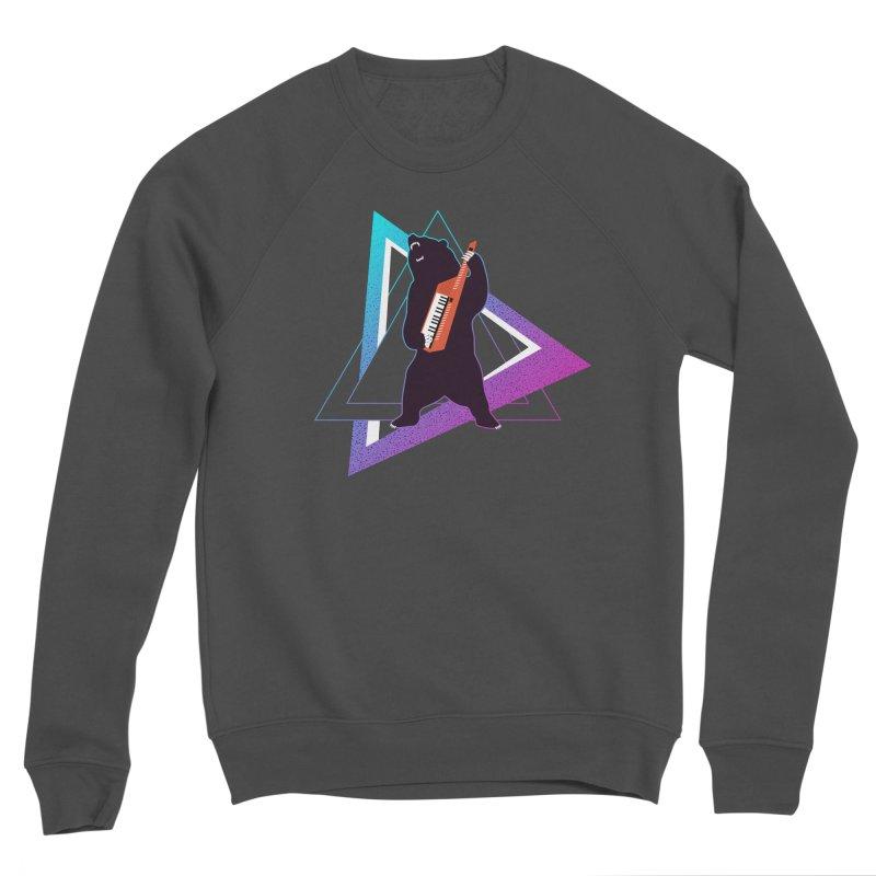 The Growling Keytarist (Grizzly Bear Music) Women's Sponge Fleece Sweatshirt by 84collective