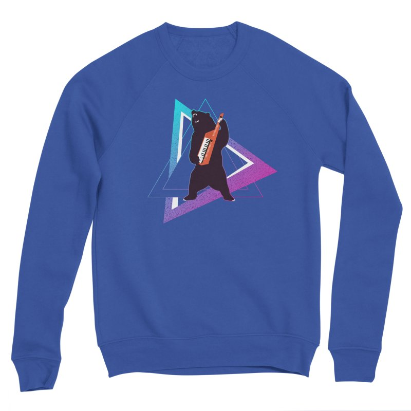 The Growling Keytarist (Grizzly Bear Music) Men's Sponge Fleece Sweatshirt by 84collective