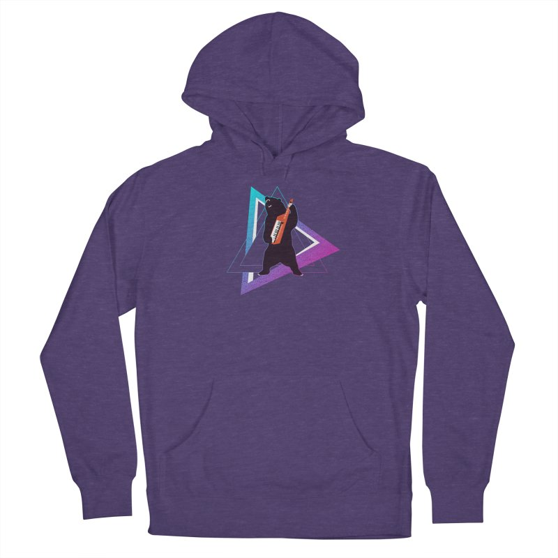 The Growling Keytarist (Grizzly Bear Music) Women's French Terry Pullover Hoody by 84collective