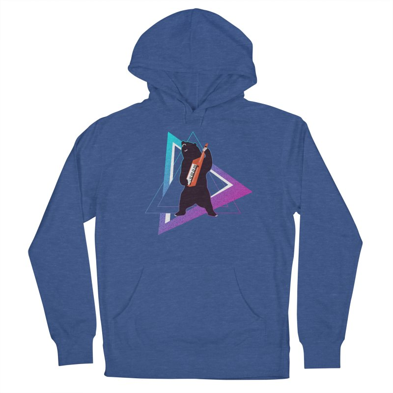 The Growling Keytarist (Grizzly Bear Music) Men's French Terry Pullover Hoody by 84collective