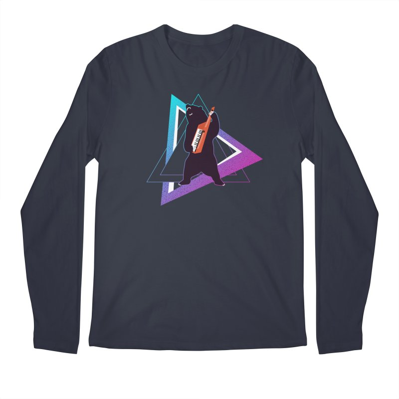 The Growling Keytarist (Grizzly Bear Music) Men's Regular Longsleeve T-Shirt by 84collective