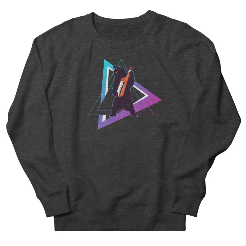 The Growling Keytarist (Grizzly Bear Music) Men's French Terry Sweatshirt by 84collective