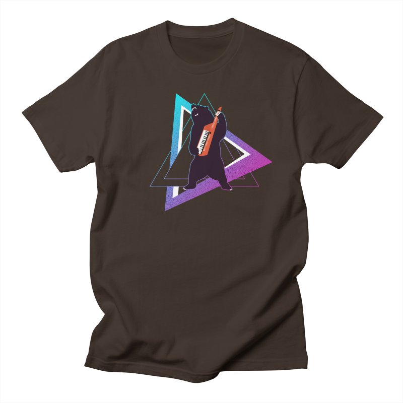 The Growling Keytarist (Grizzly Bear Music) Men's Regular T-Shirt by 84collective