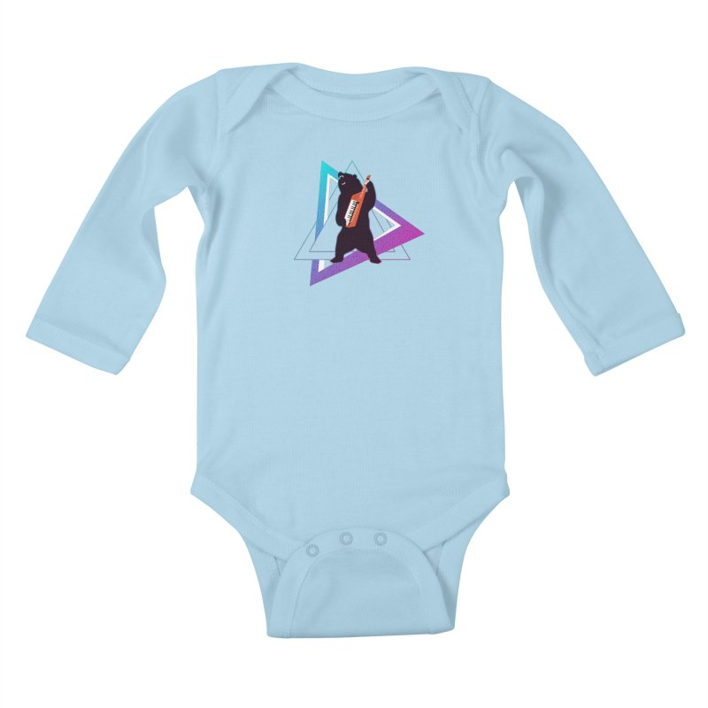 The Growling Keytarist (Grizzly Bear Music) Kids Baby Longsleeve Bodysuit by 84collective