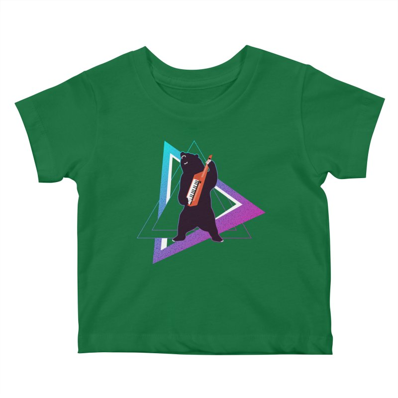 The Growling Keytarist (Grizzly Bear Music) Kids Baby T-Shirt by 84collective