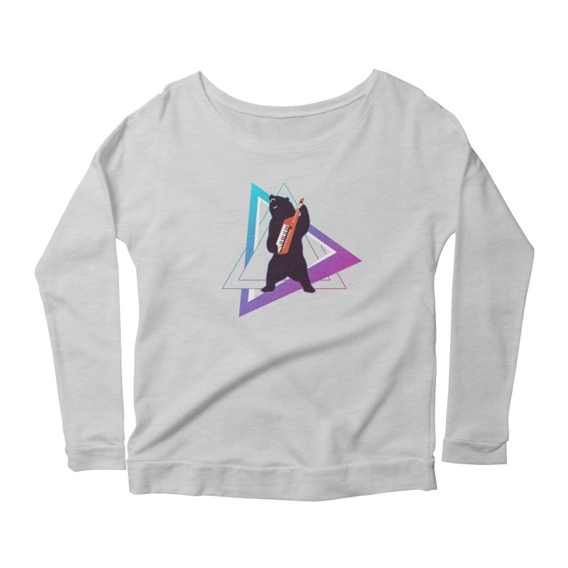 The Growling Keytarist (Grizzly Bear Music) Women's Scoop Neck Longsleeve T-Shirt by 84collective