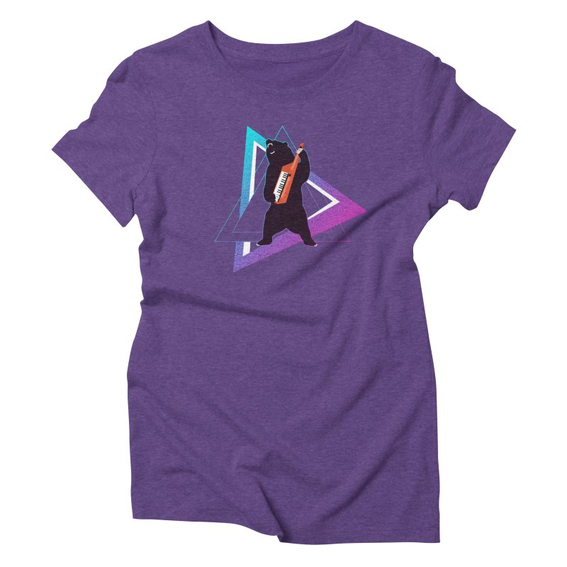 The Growling Keytarist (Grizzly Bear Music) Women's Triblend T-Shirt by 84collective