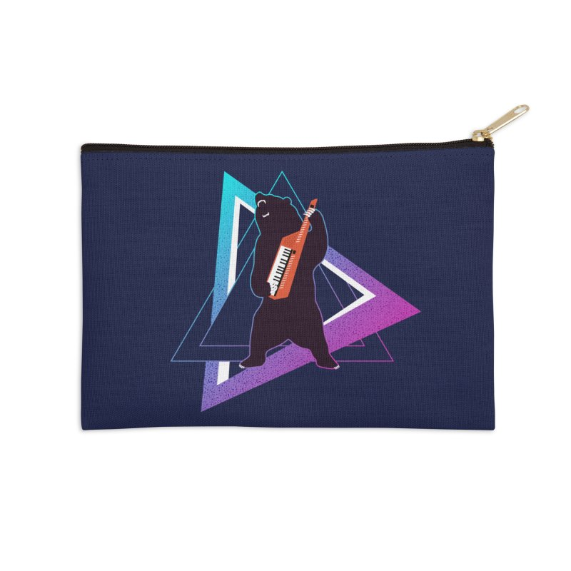 The Growling Keytarist (Grizzly Bear Music) Accessories Zip Pouch by 84collective