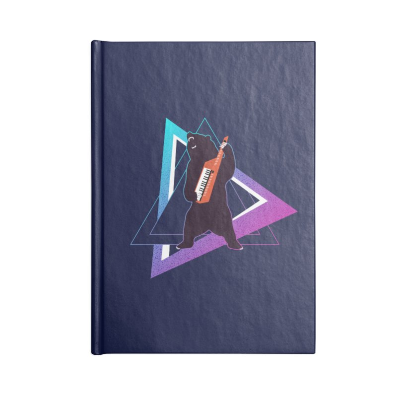 The Growling Keytarist (Grizzly Bear Music) Accessories Blank Journal Notebook by 84collective